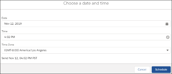 Salesforce Spring '20 Release - Schedule and Manage Scheduled Emails in Lightning Experience