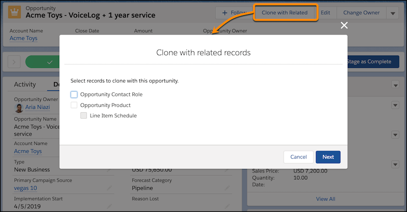 Salesforce Spring '20 Release - Clone objects