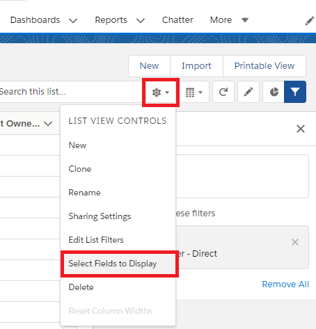 Salesforce List View